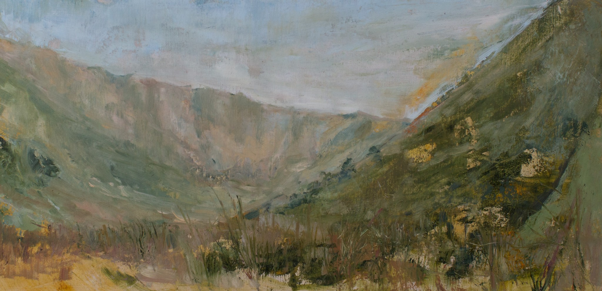 Martindale in August oil on board