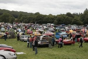 classic cars at Dalemain