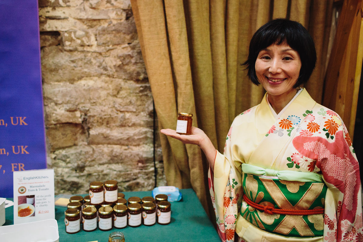 Artisan winners selling their marmalade